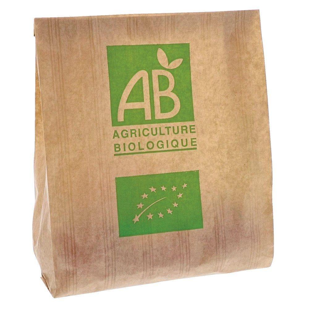 Sac fruits & légumes AB 1 kg kraft brun 17+6x26 cm par 1000 (photo)