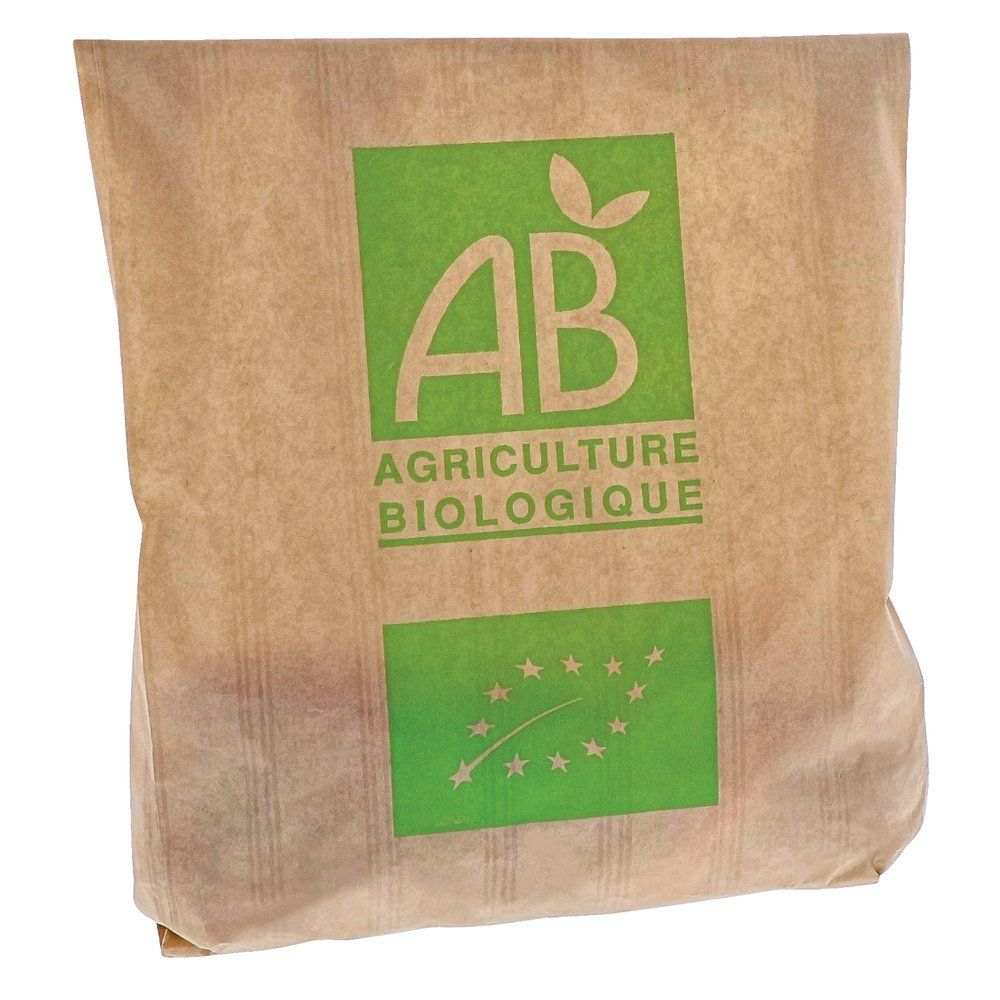 Sac fruits & légumes AB 2 kg kraft brun 20+6x31 cm par 1000 (photo)