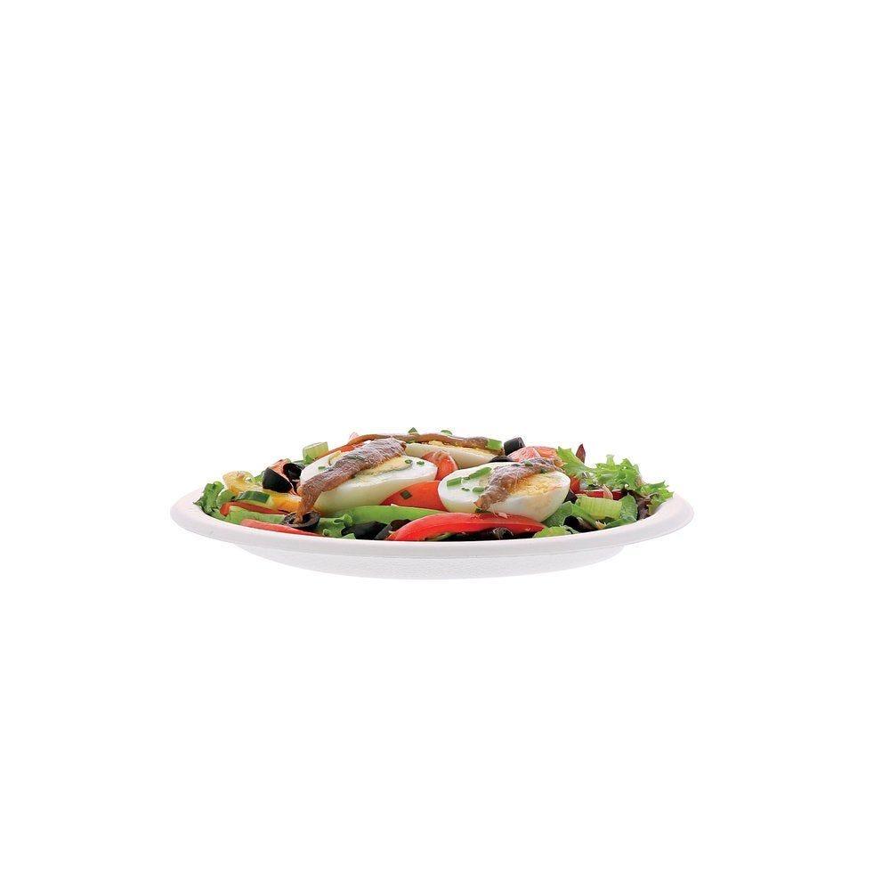 Assiette jetable biodégradable ronde dimaètre Ø 23cm - par 50 (photo)