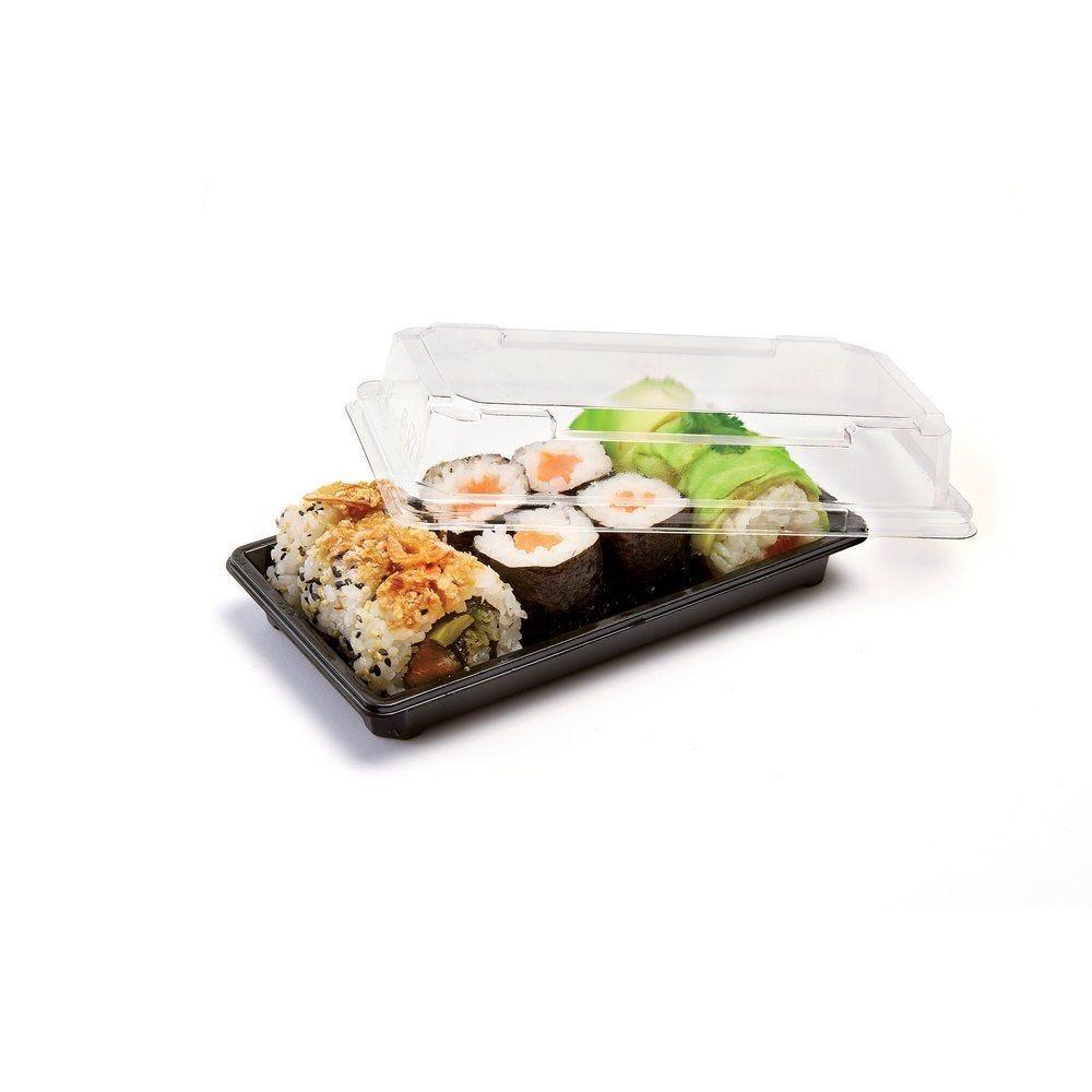 Barquette sushi + couvercle 17,1X9,4X2 cm X 400 (photo)