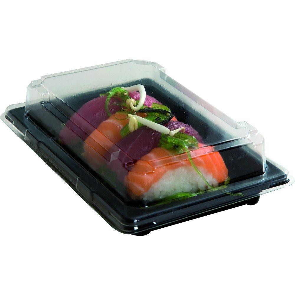 Barquette sushi + couvercle 16,6X11,5X2 cm X300 (photo)