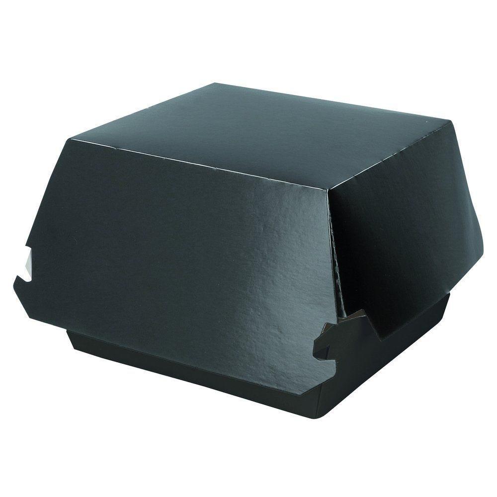 Boîte burger noire taille M  L.14 x P.12,5 x H.8 cm par 50 (photo)