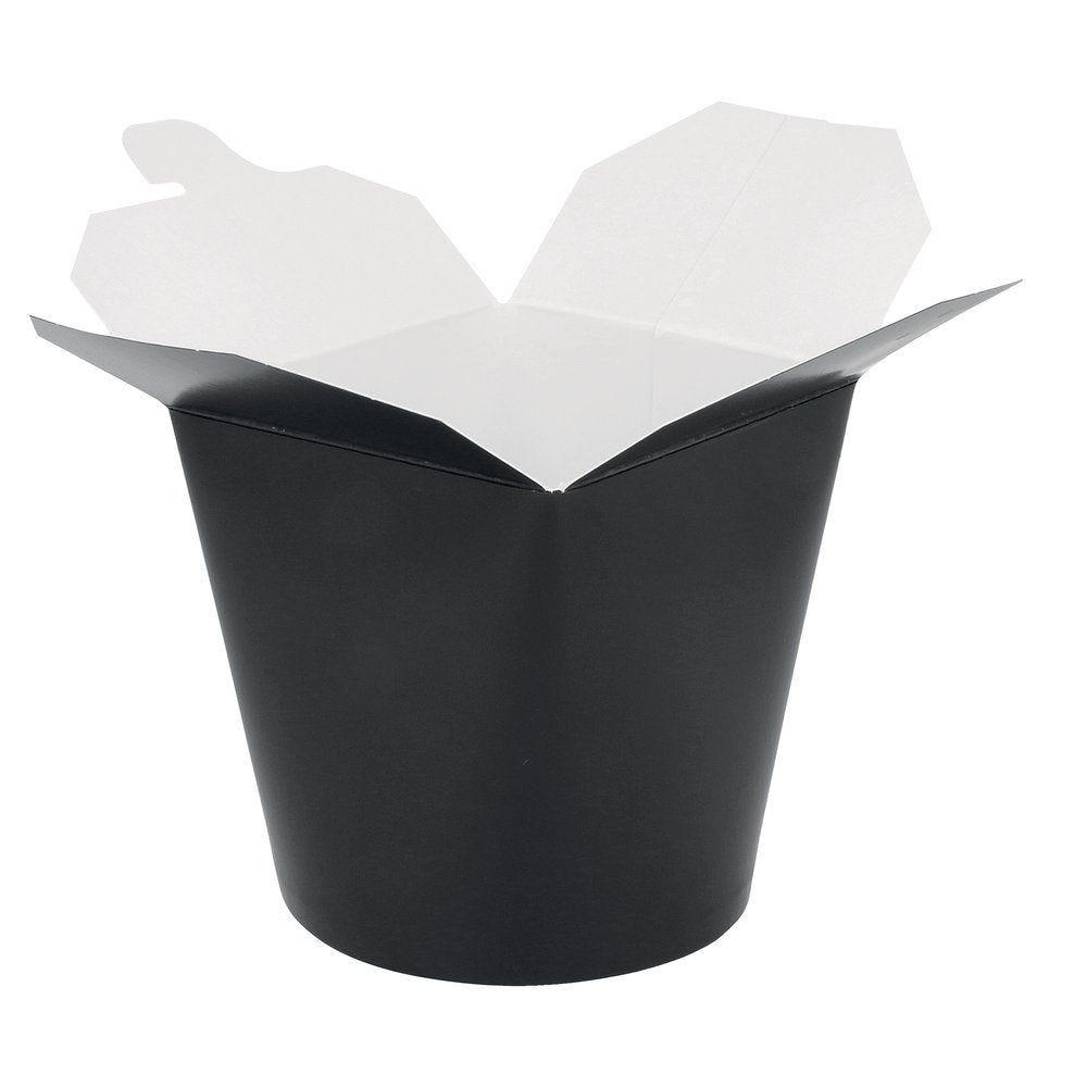 Pot à pâtes noir fermeture croisillon 960ml par 50 (photo)