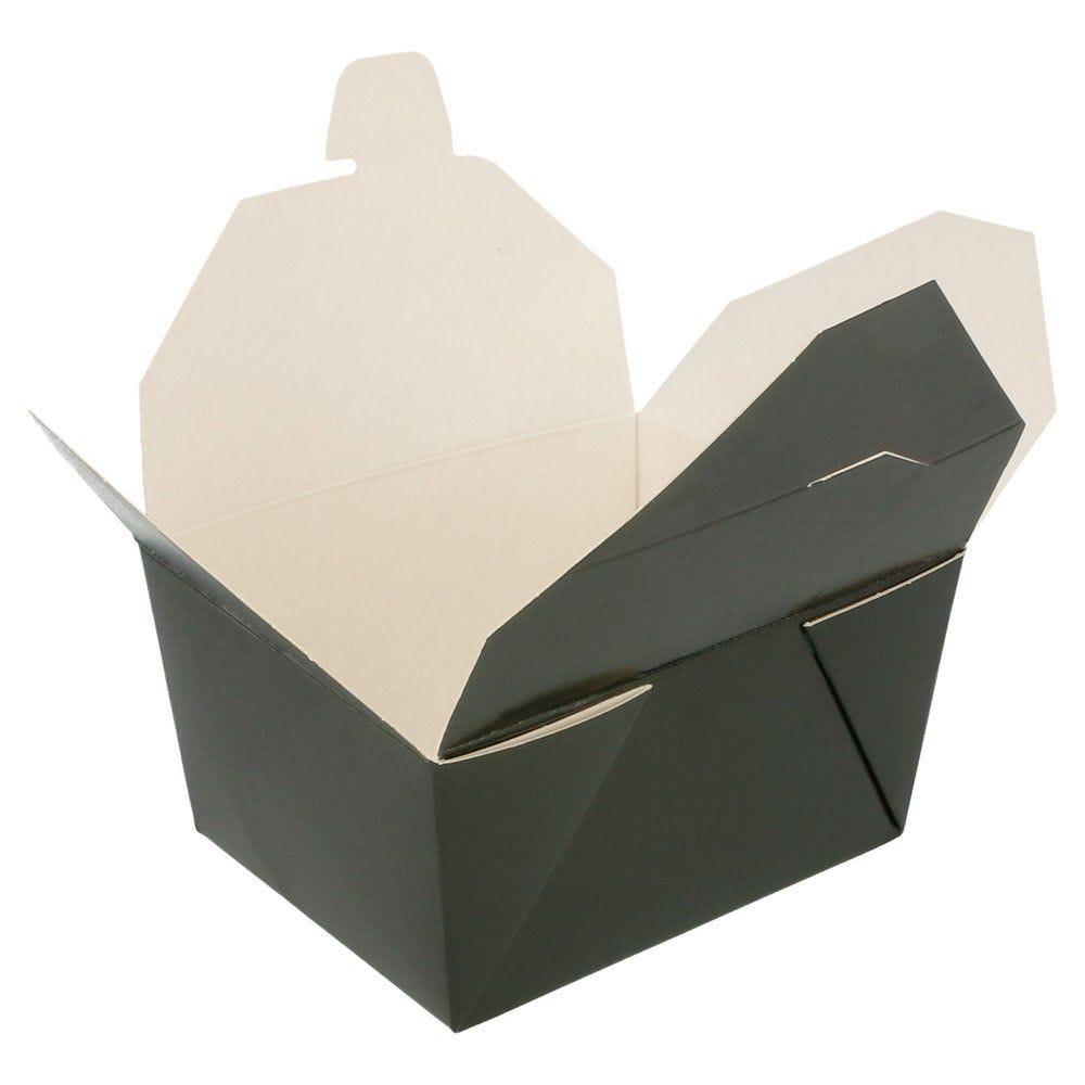 Boîte alimentaire noire kraft à fermeture 780ml par 50 (photo)