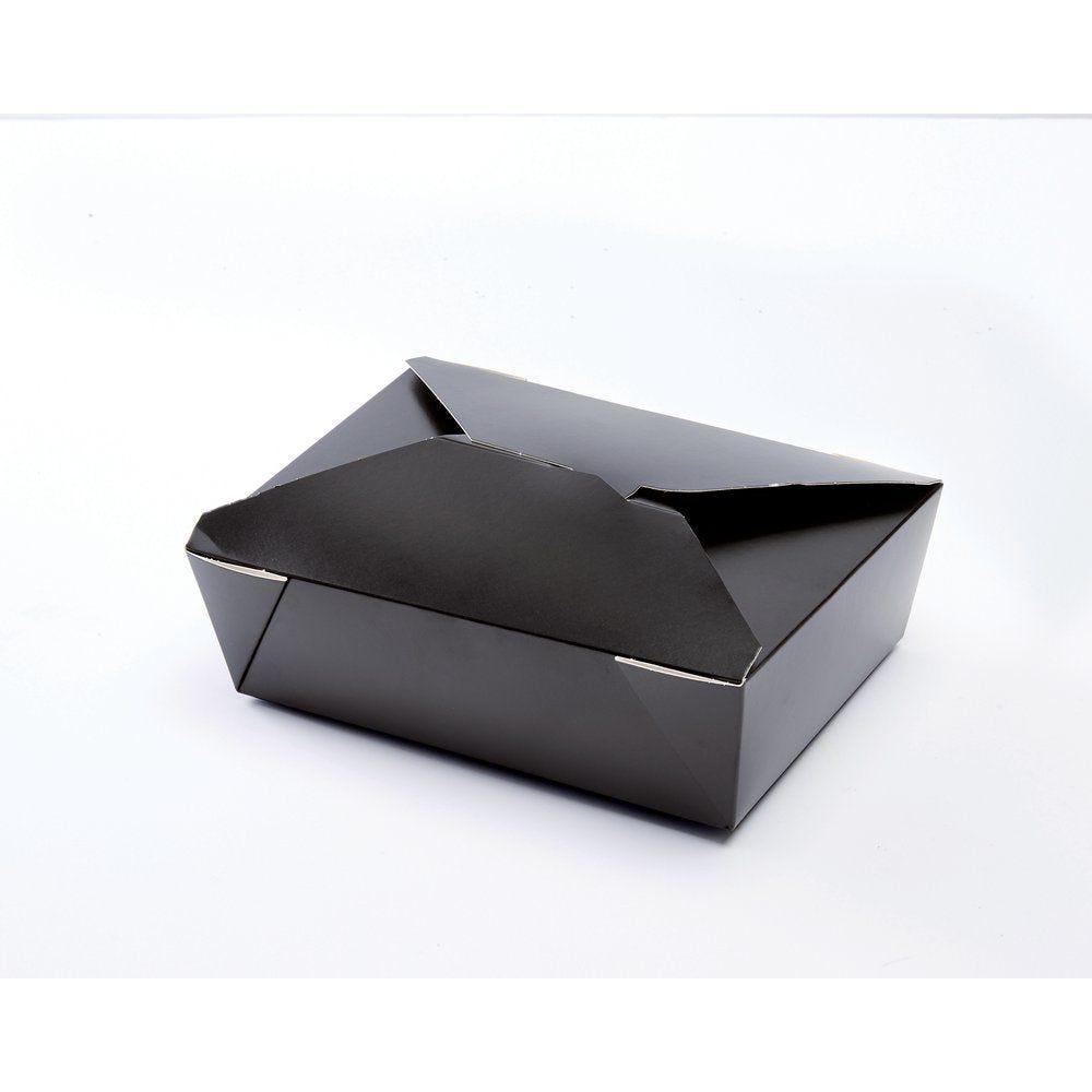 Boîte alimentaire kraft noir à fermeture 1980ml par 50 (photo)
