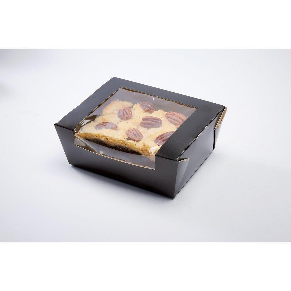 Boîte alimentaire à fenêtre noire 1350ml 15,3x17,2x6,4 cm par 50 (photo)