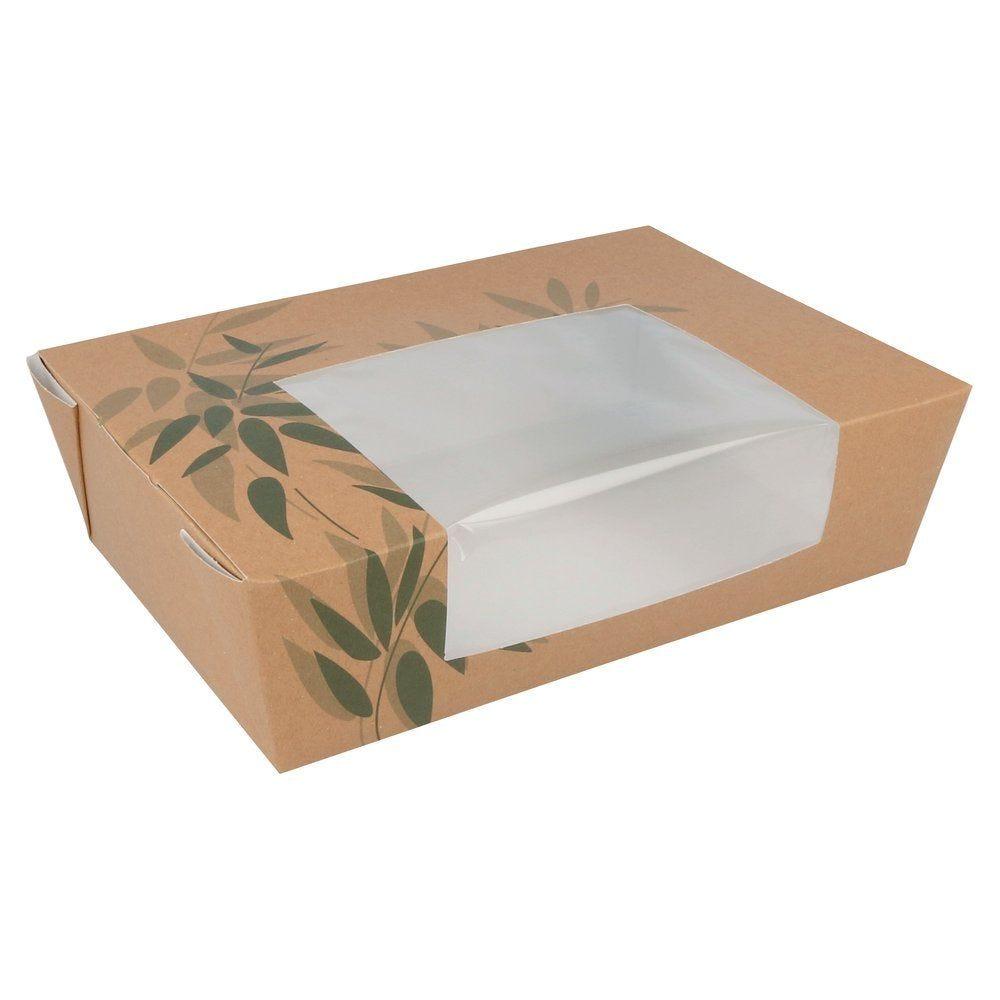 Boîte alimentaire à fenêtre Feel Green 1980ml 19,8x14x6,4 cm par 50 (photo)