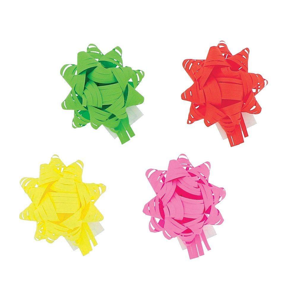 Etoile adhésive Happy paper coloris assortis 13mm par 40 (photo)