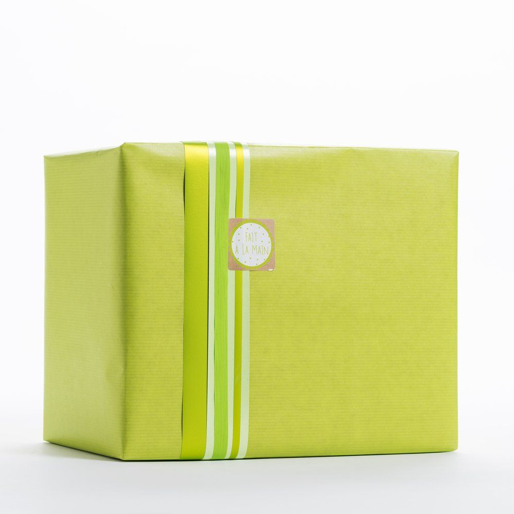 Papier kraft vert lime en 0,50x200 m (photo)