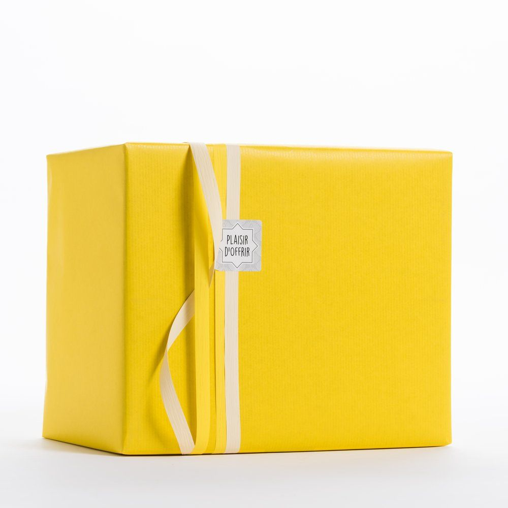 Papier kraft jaune en 0,70x100 m (photo)