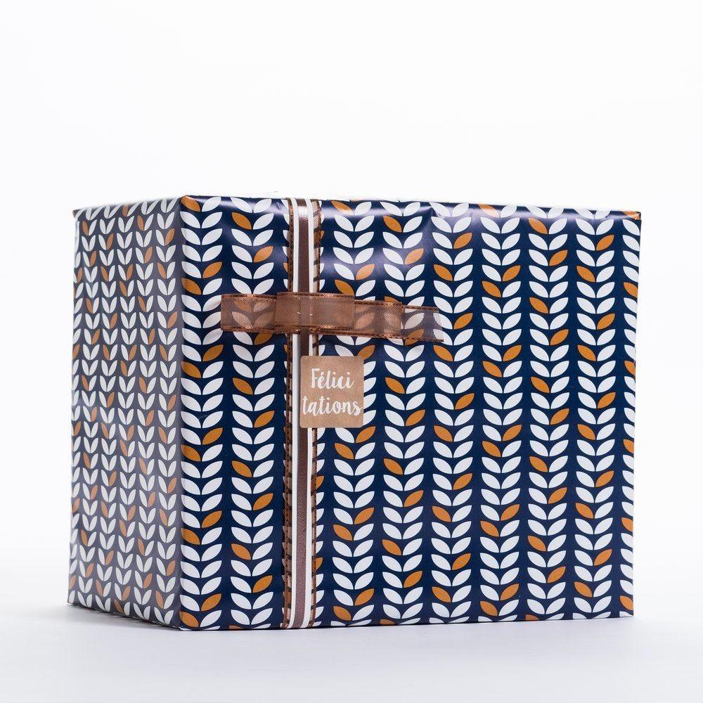 Papier cadeau céréales en 0,70 x 100 m (photo)