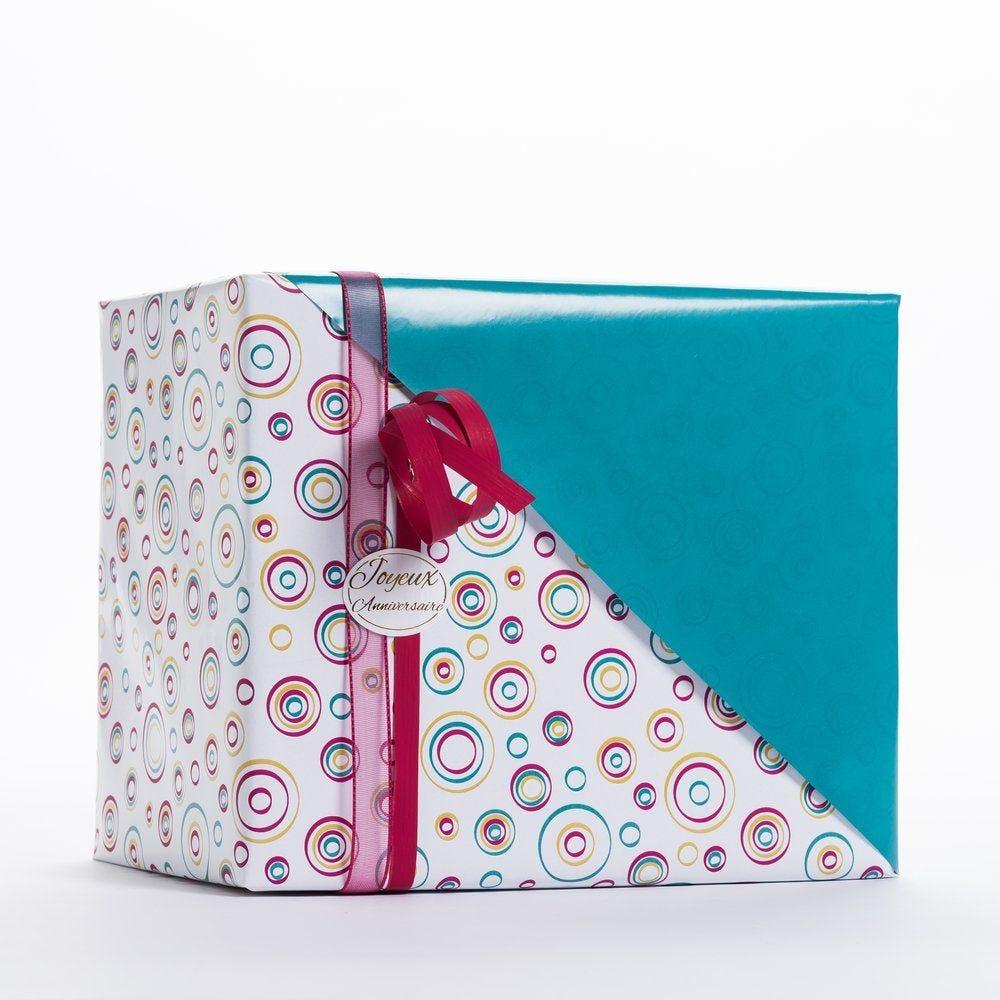 Papier cadeau cibles réversible vert 0,70 x 50 m (photo)
