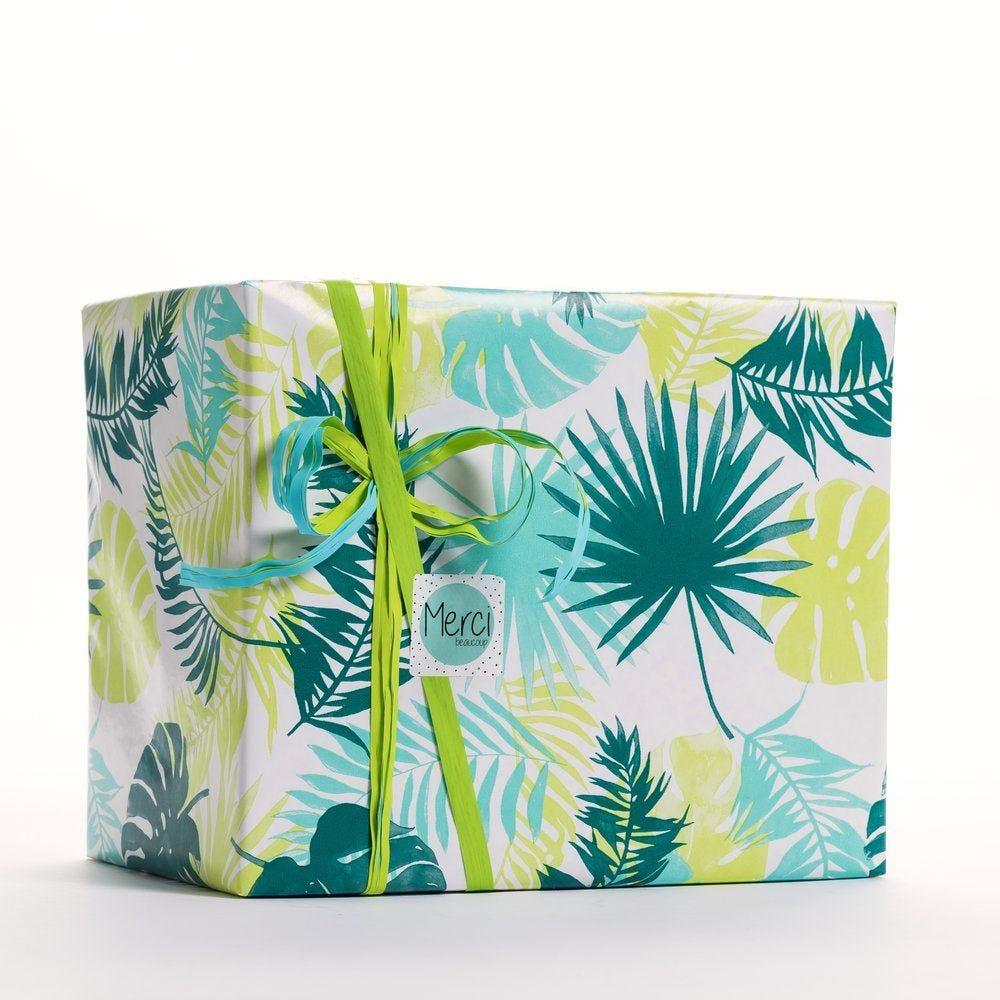 Papier cadeau décor végétal Ariel 0,70 x 50 m (photo)