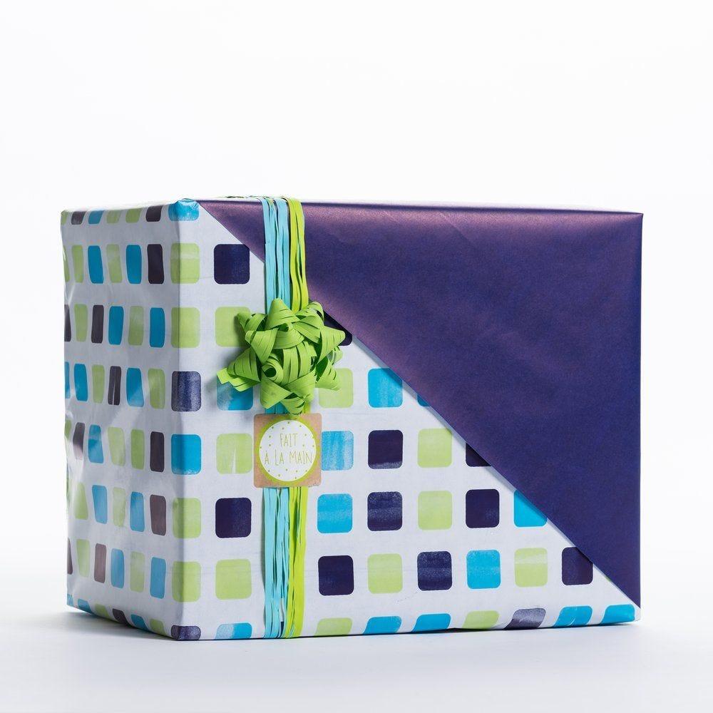 Papier cadeau Ethan réversible 0,70x50m