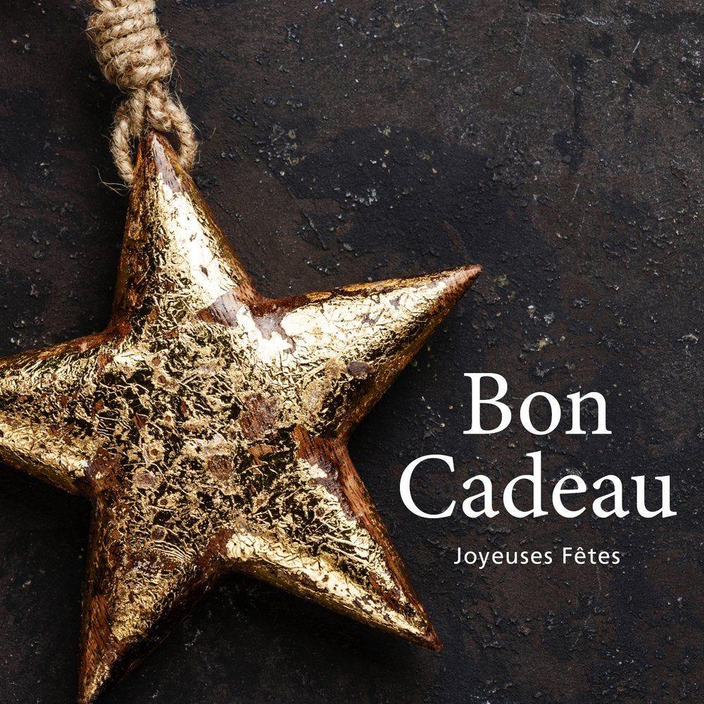 Bon cadeau motif étoile or