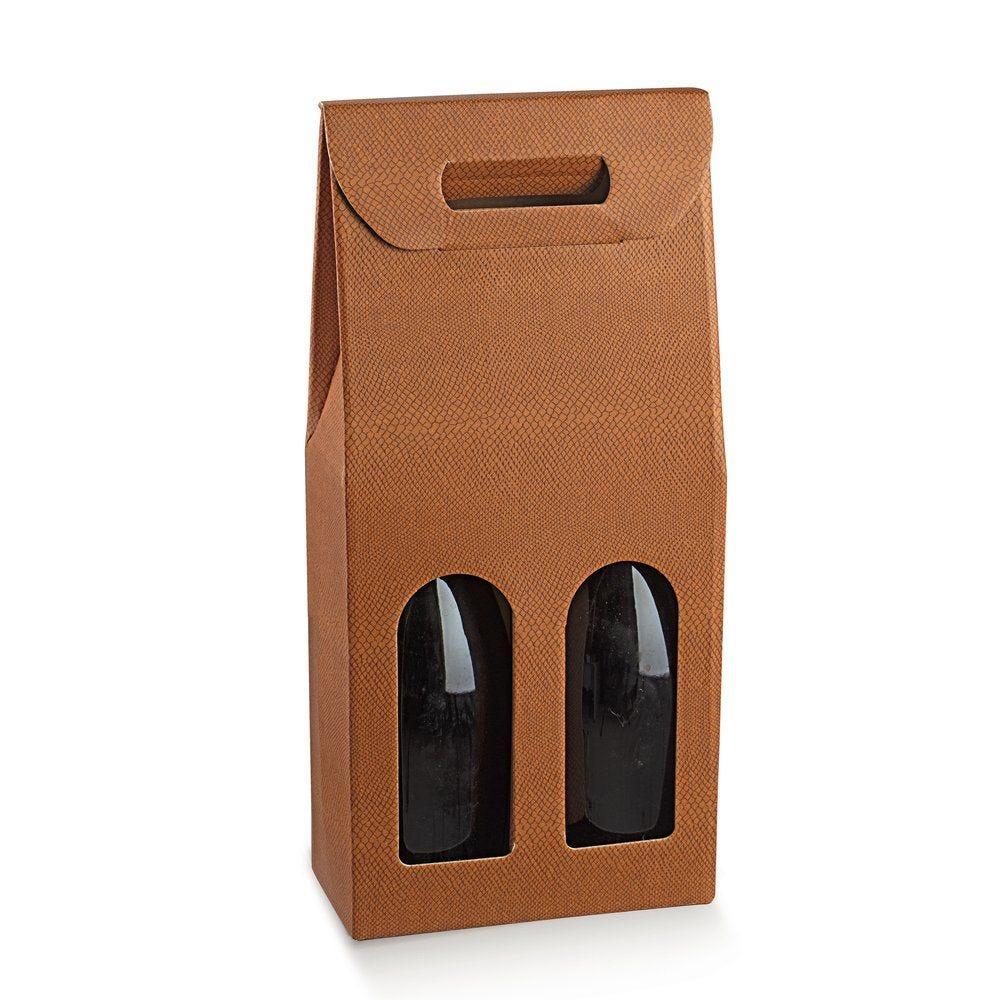 Boîte 2 bouteilles Skin désert 18x9x38,5cm - par 10 (photo)