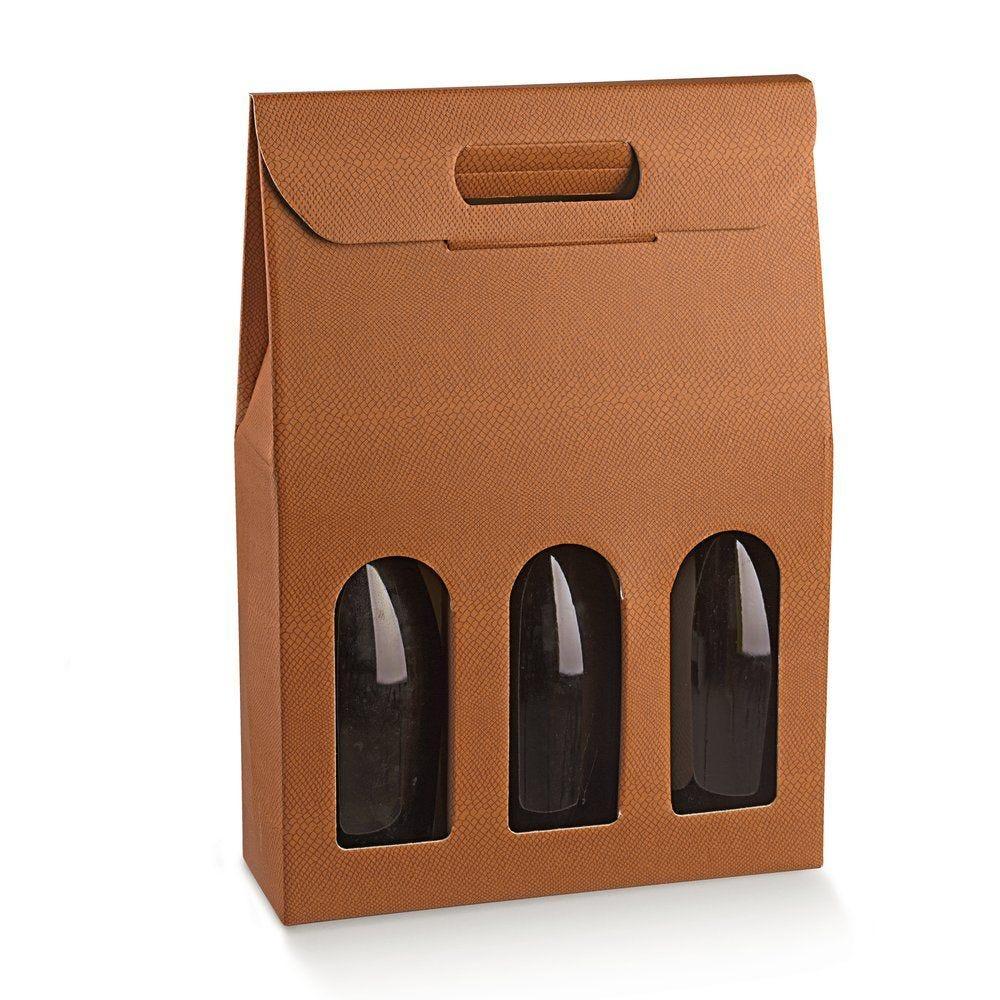 Boîte 3 bouteilles Skin Desert 27x9x38.5cm - par 10 (photo)
