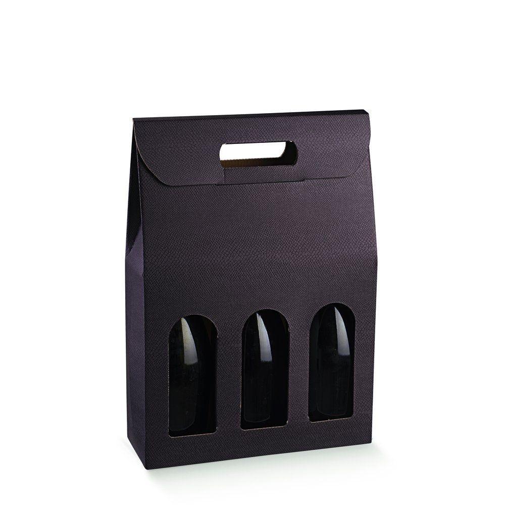Boîte 3 bouteilles Skin Coffee - 27x9x38,5cm - par 10 (photo)