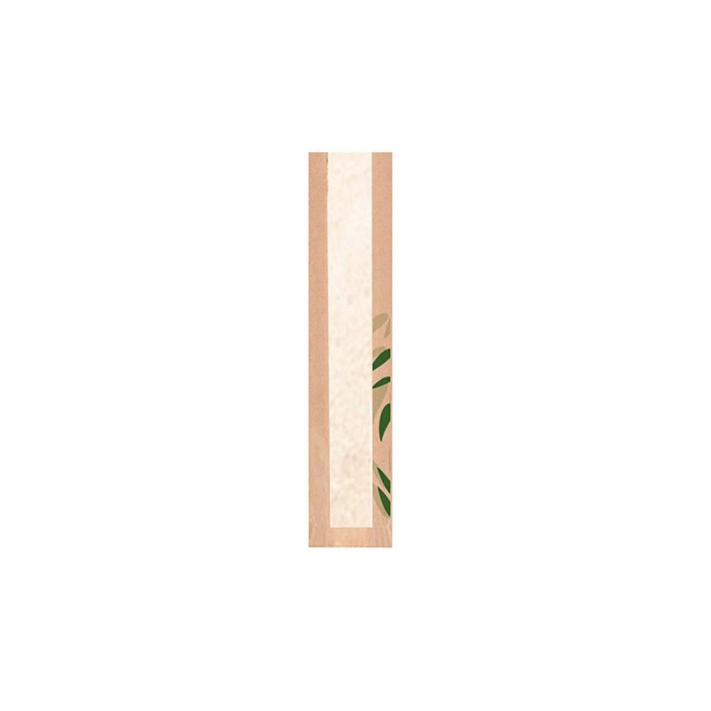 Sac pain avec fenêtre papier Feel Green 9+4x35cm - par 250