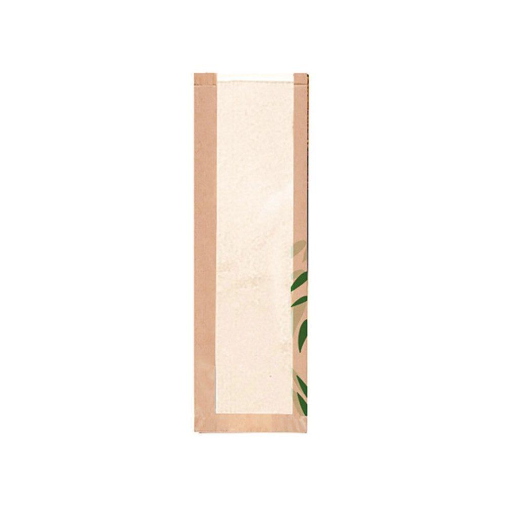 Sac pain avec fenêtre papier Feel Green 14+4x48cm - par 250