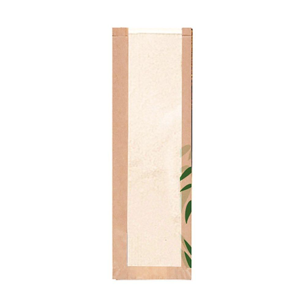 Sac pain avec fenêtre papier Feel Green 14+4x60cm - par 250