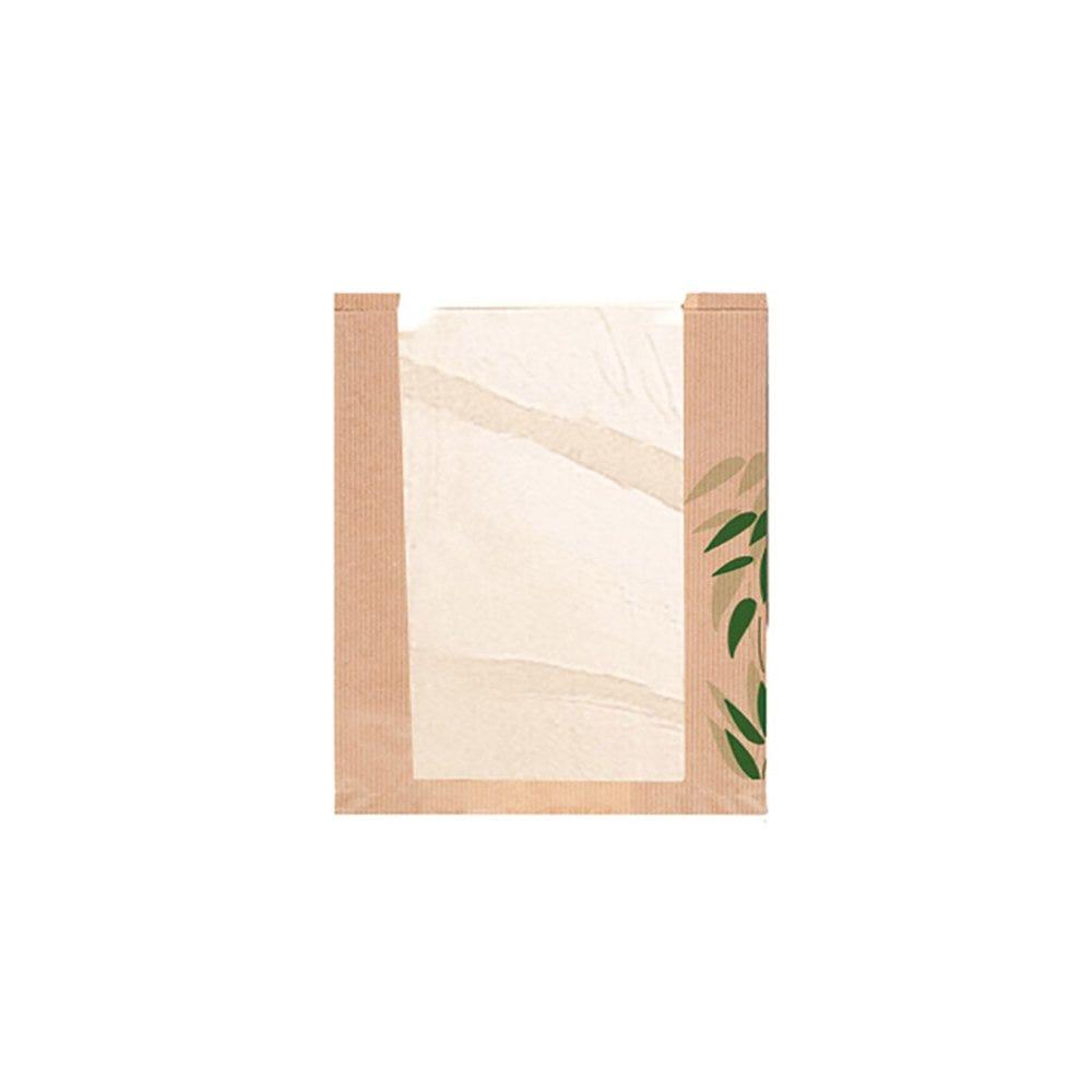 Sac pain avec fenêtre papier Feel Green 26+4x30cm - par 250