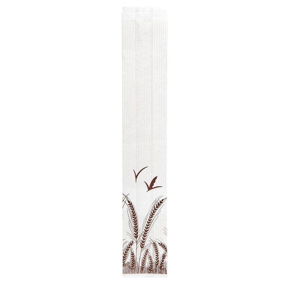 Sac pain papier blanc imprimé 12+7x66cm - par 100