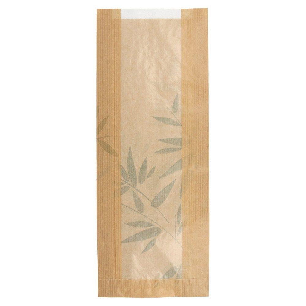 Sac pain avec fenêtre papier Feel Green 14+4x35cm - par 500
