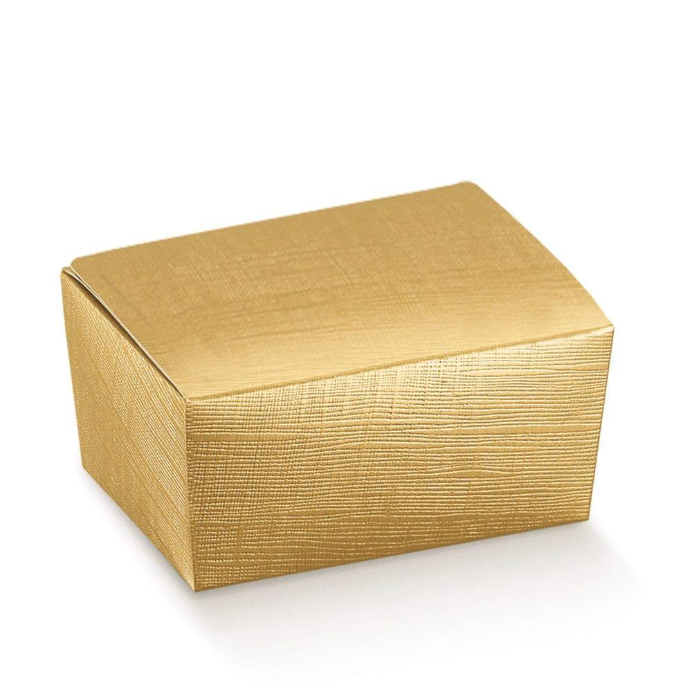 Ballotins carton or effet matière 125gr 10,3x6,7x4,5cm - par 100 (photo)