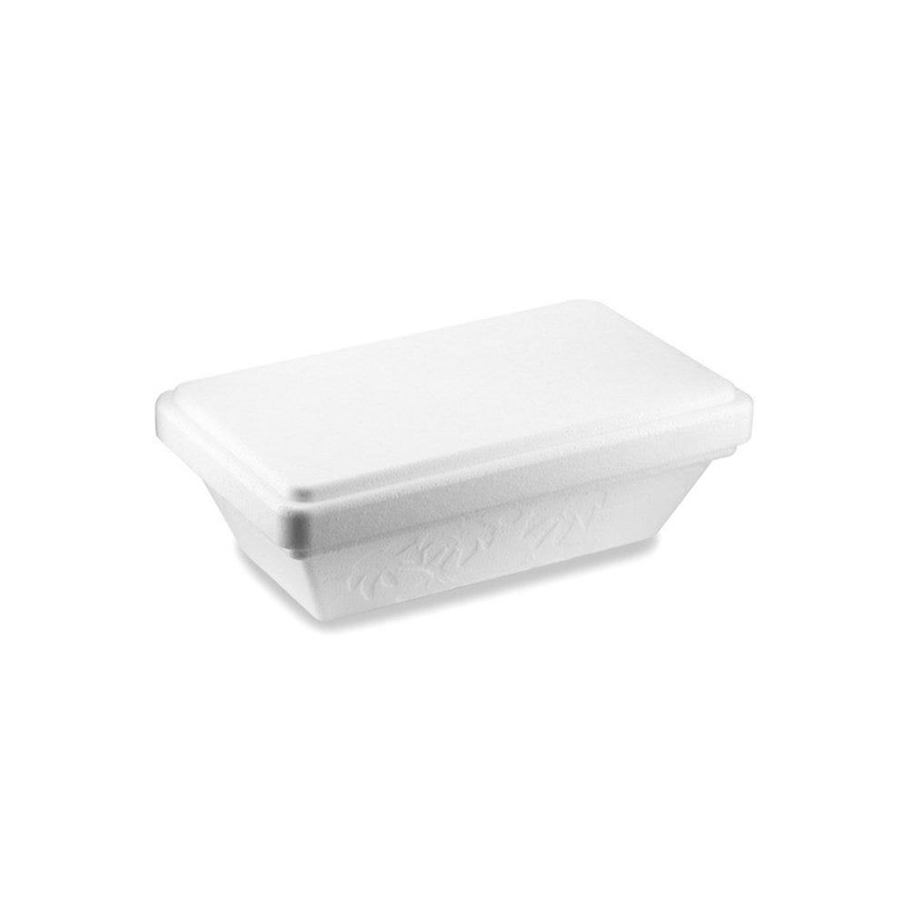 Boite à glace avec couvercle PSE blanc 500ml 18,3x12x8cm - par 96