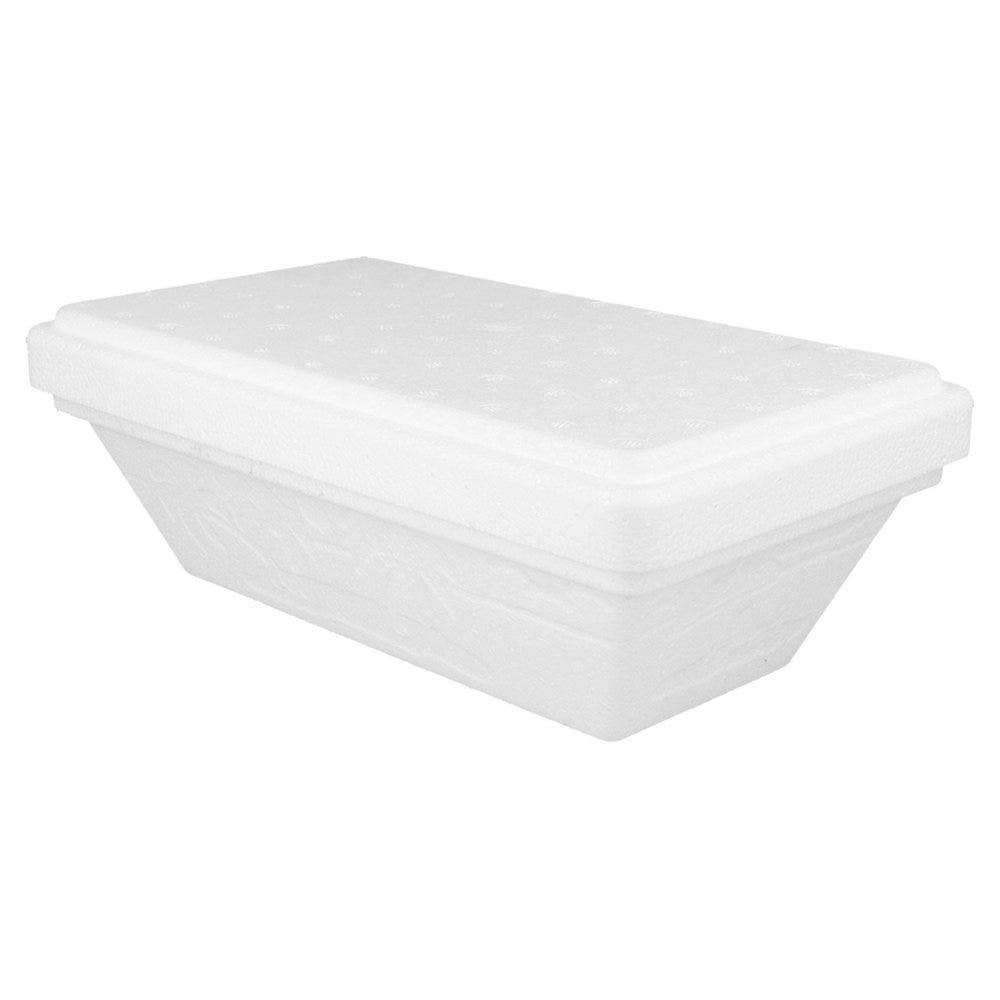 Boite à glace avec couvercle PSE blanc 1000ml 24,4x14,2x8,7 - par 96