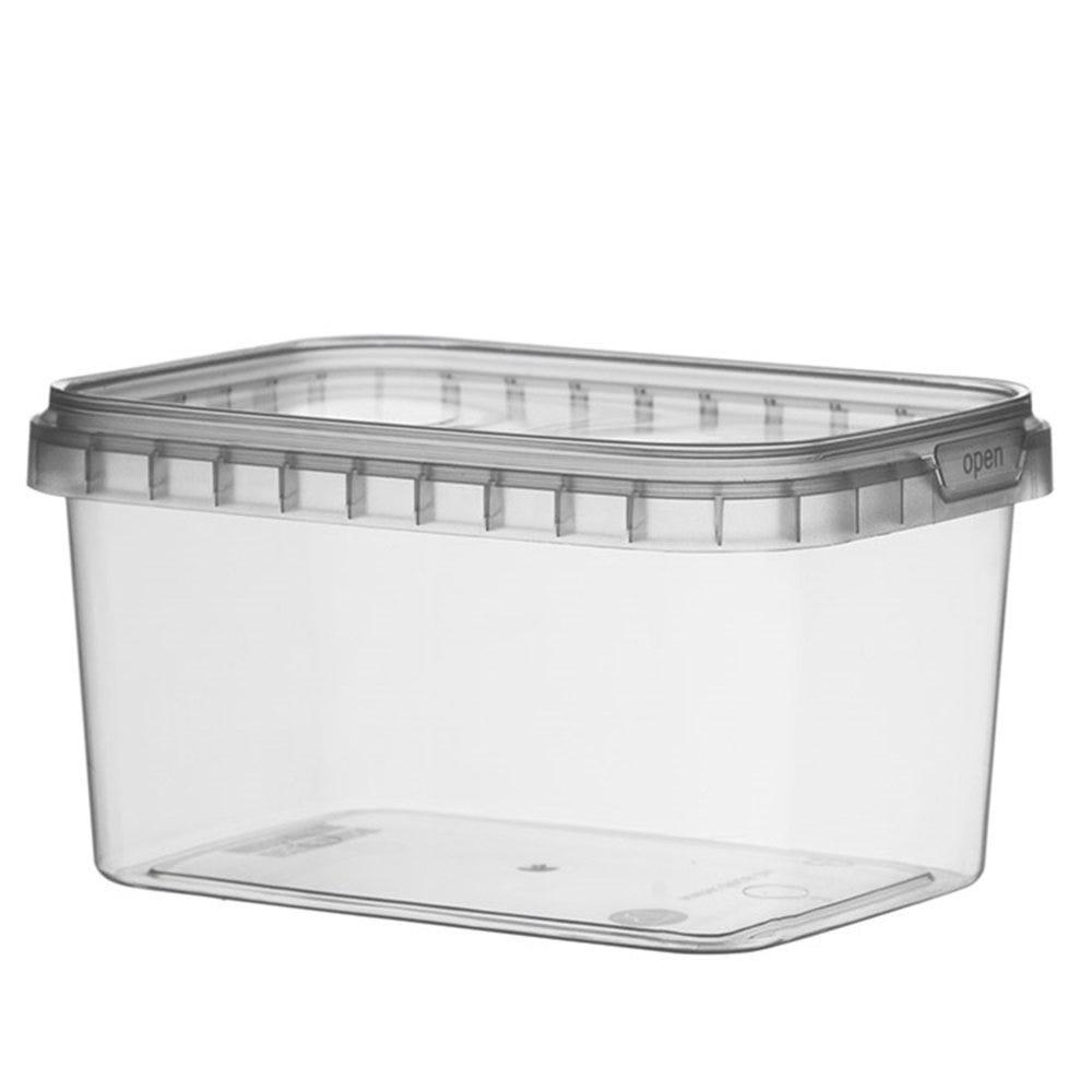 Barquette transparente avec couvercle inviolable 425cc 12x8,8x6,9cm - par 368