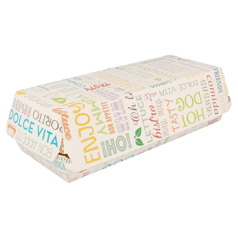 Boîte panini en carton Parole 26x12x7cm - par 300