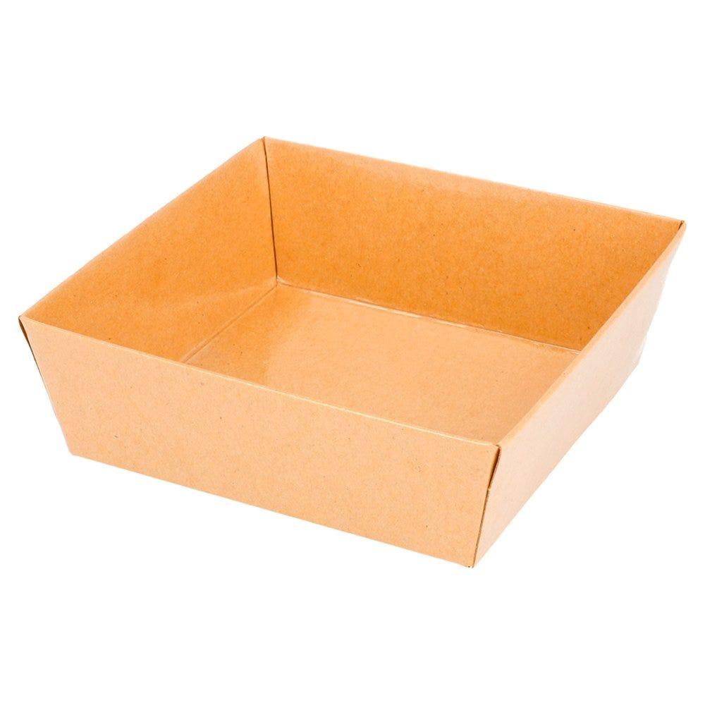 Barquette carrée Kraft 10,5x10,5x3,5cm - par 1000