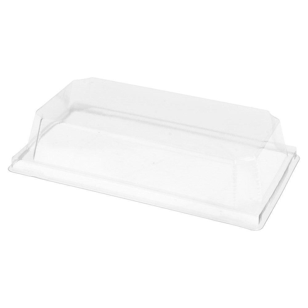 Couvercle transparent PET hauteur 3,7cm pour barquette 59142 - par 1000