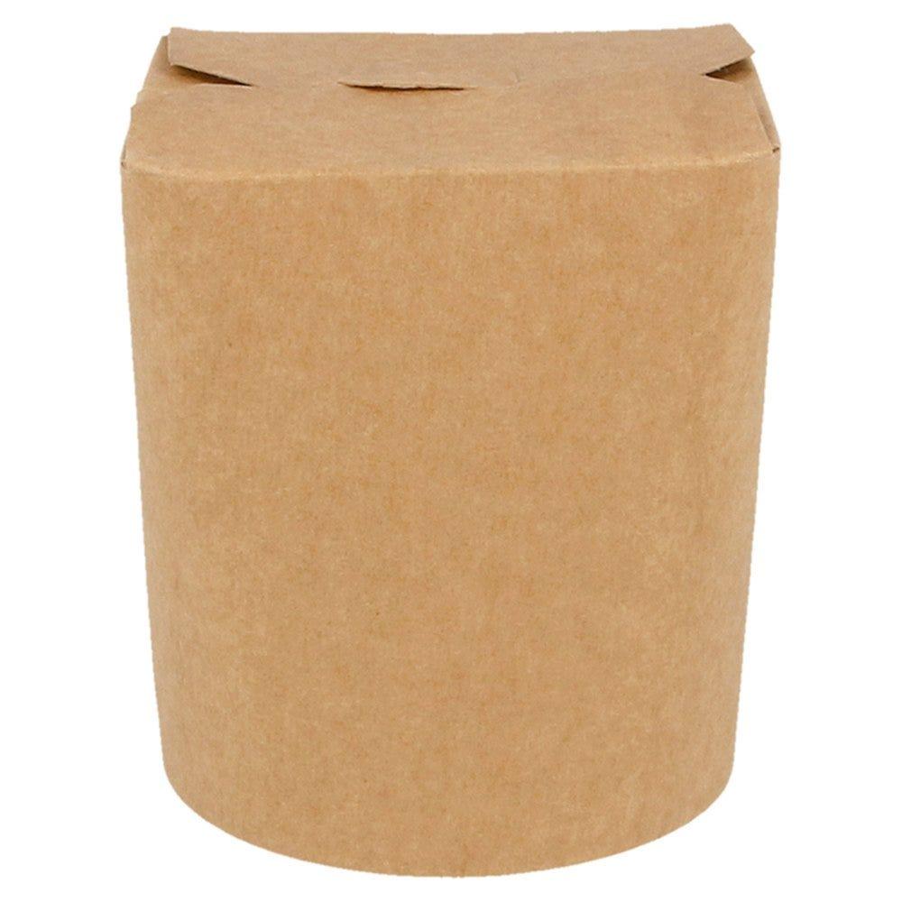 Boîte à pâtes à fermeture croisillon carton Kraft 480cc Ø8x9cm - par 50