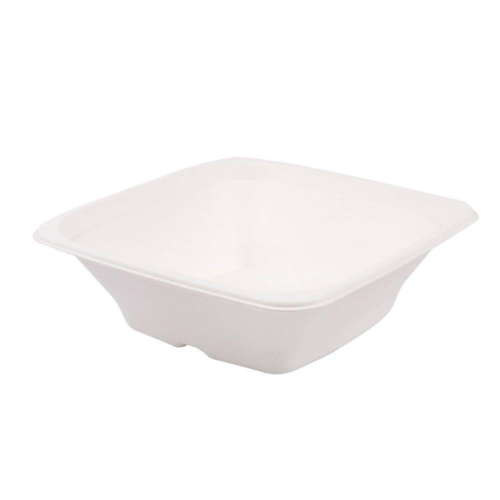 Bol carré bagasse blanche 700cc 18x18x6cm - par 400