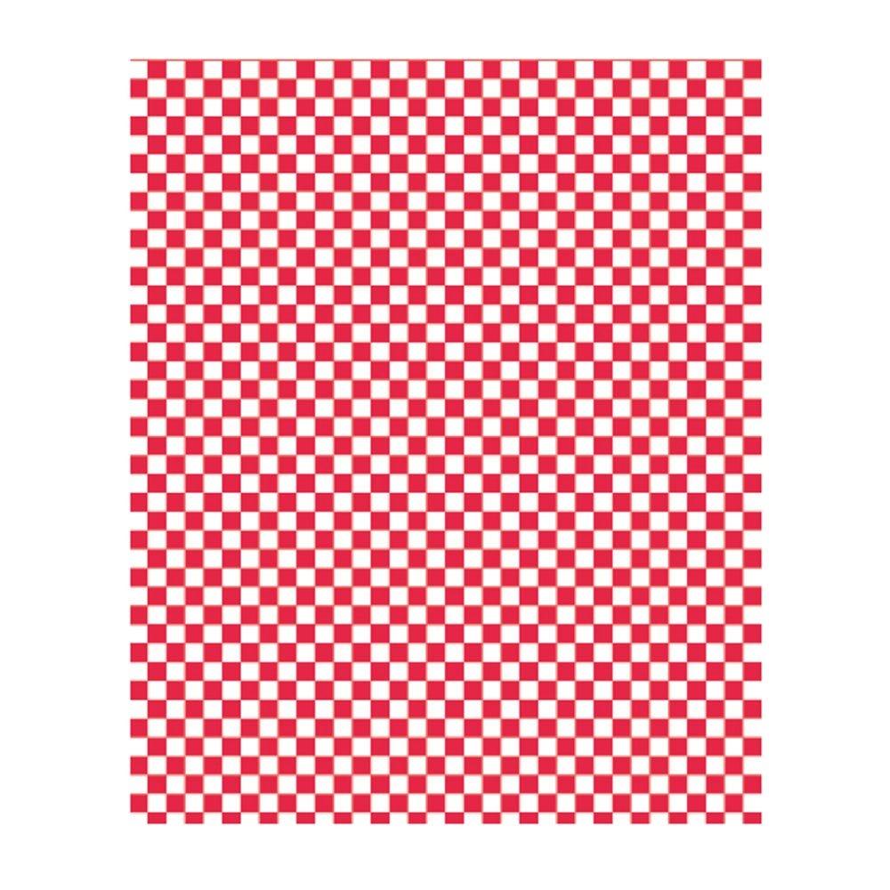 Feuille ingraissable pour burger Damier rouge 28x34cm - par 1000