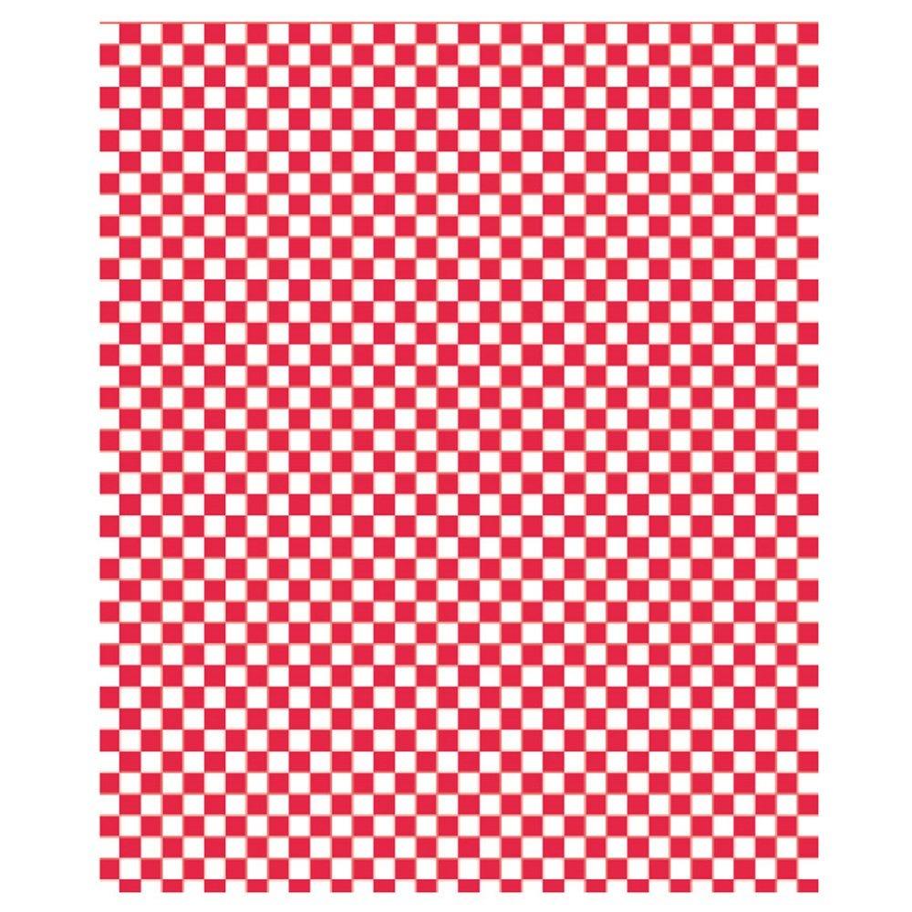 Feuille ingraissable pour burger Damier rouge 31x38cm - par 4000