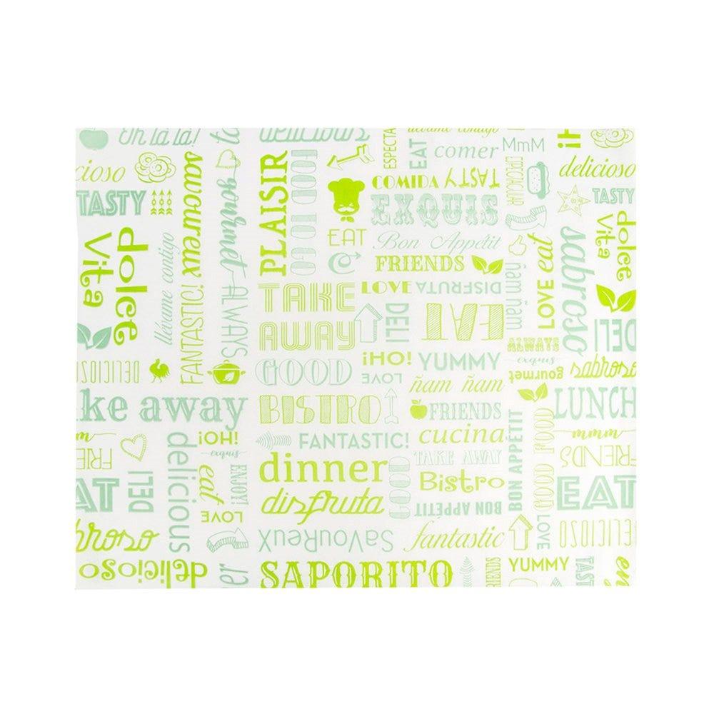 Feuille ingraissable pour burger Parole vert 31x38cm - par 4000