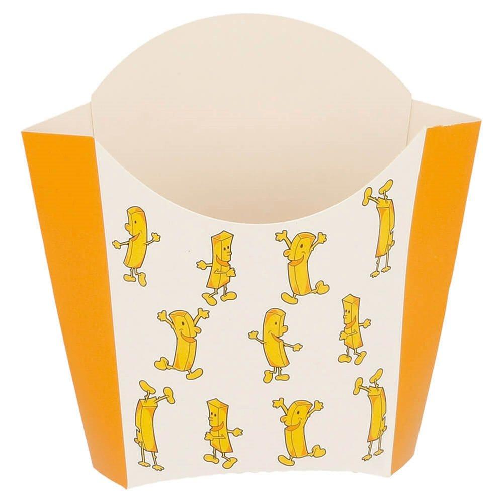 Pochette à frites blanc imprimé 135g 13x8x13,5cm - par 1200
