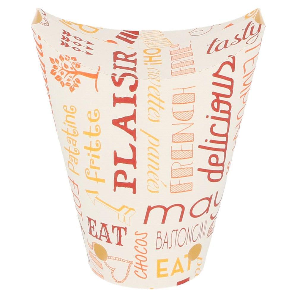 Gobelet à frites refermable Parole 360cc Ø6,7x12,5cm - par 100
