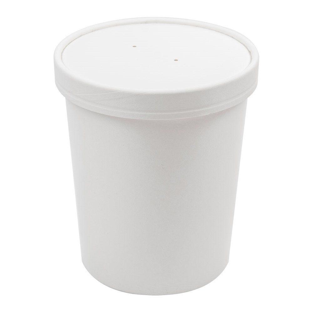 Pot à soupe + couvercle en carton blanc 960 ml D11,7/9,2x13,5 cm - par 250