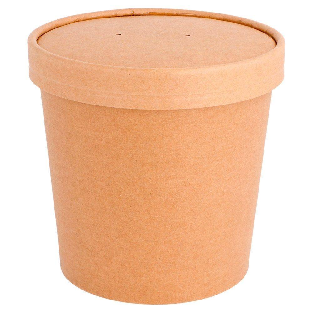 Gobelet à soupe avec couvercle carton brun 780ml - par 250