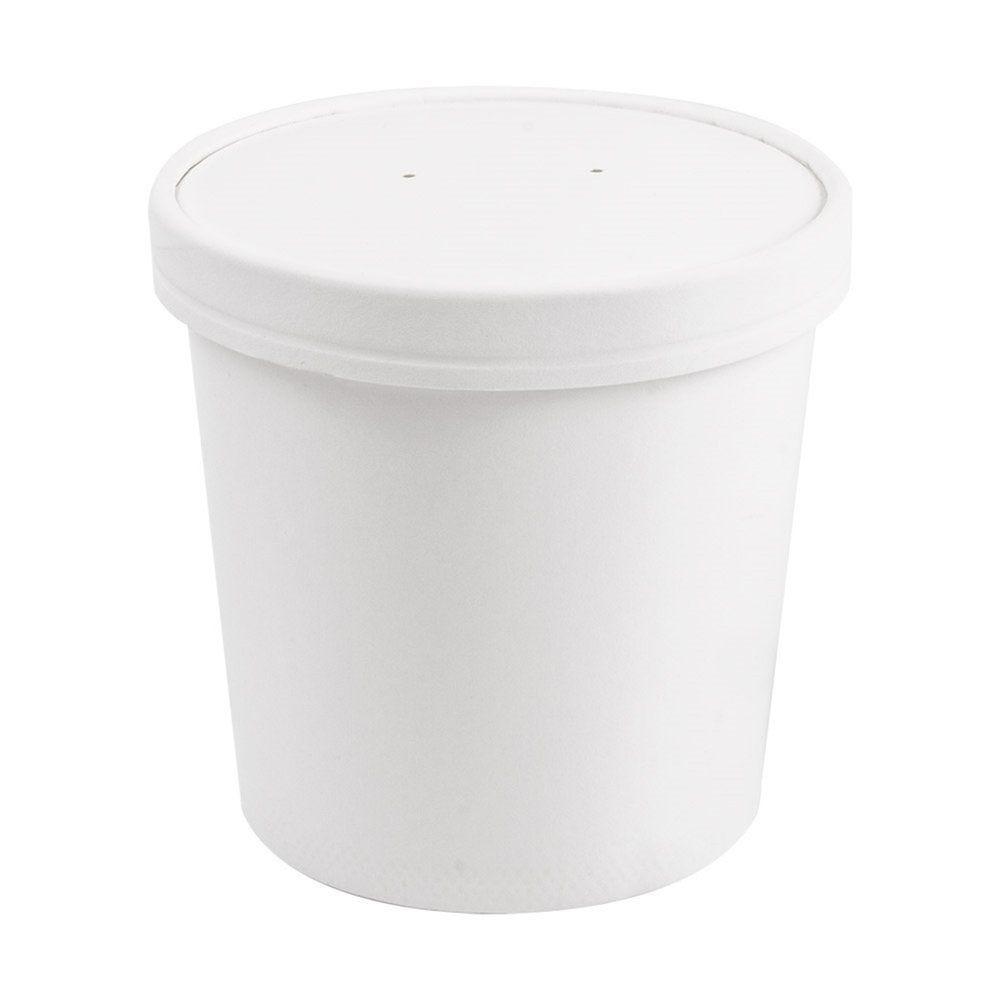 Pot à soupe + couvercle en carton blanc 780ml D11,7/9,2x11cm - par 250