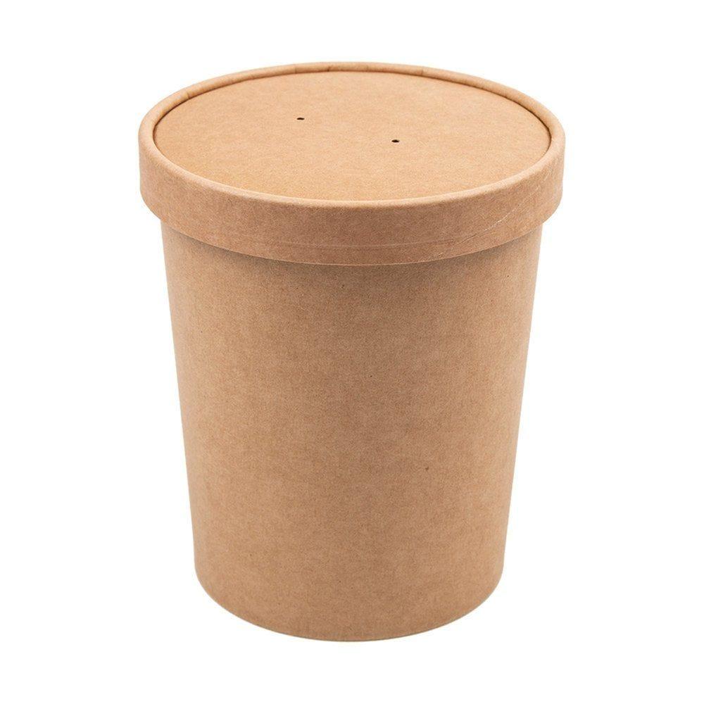 Gobelet à soupe avec couvercle carton brun 960ml - par 250