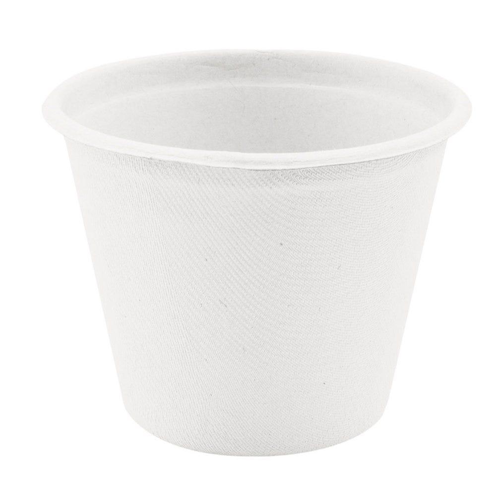 Pot à soupe en bagasse blanche 425cc Ø10,5x8,3cm - par 600