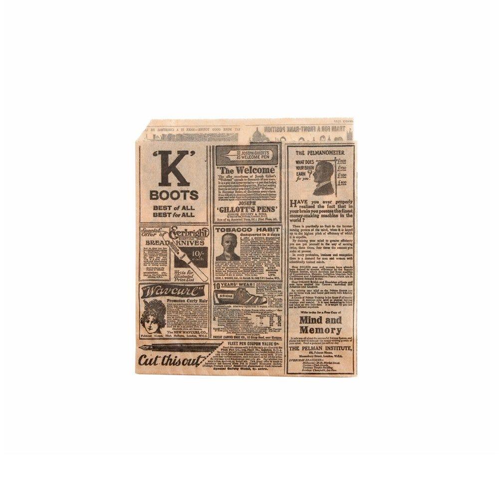 Sachet papier ingraissable naturel Times 2 côtés ouverts 13x14cm - par 1000