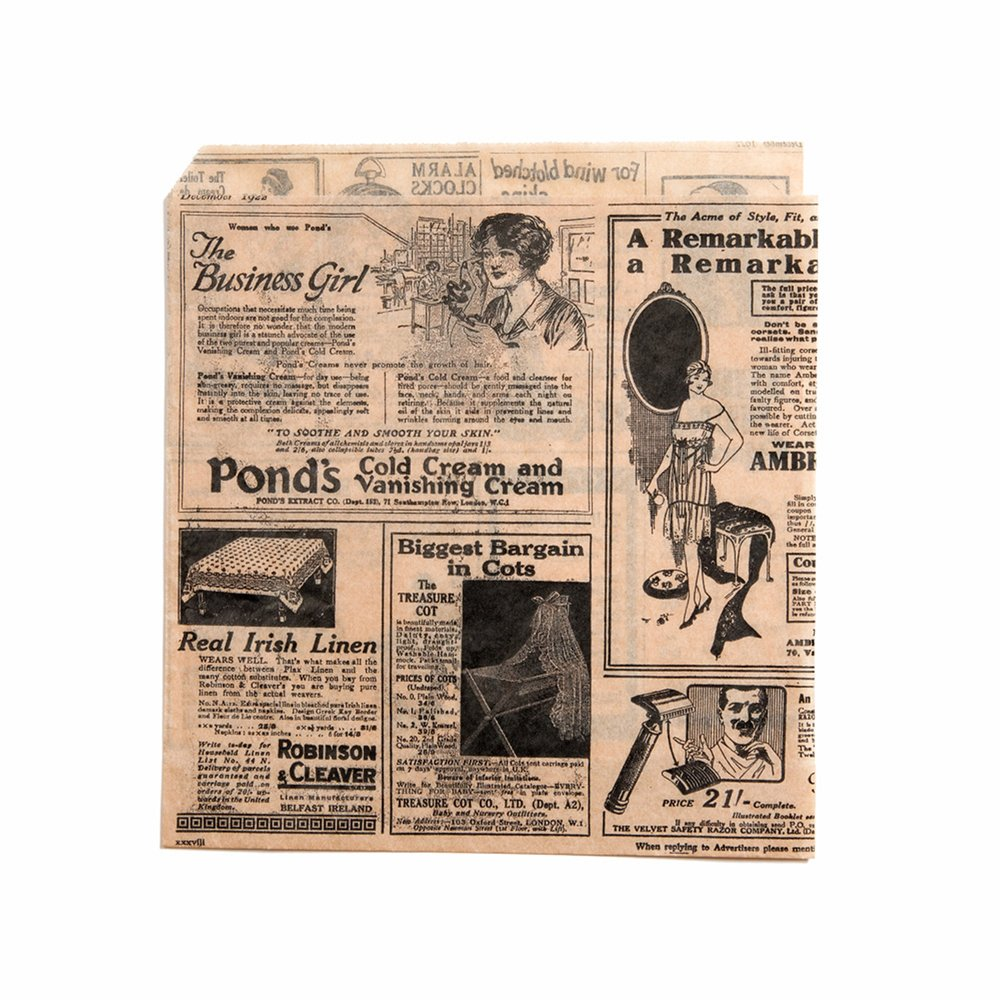 Sachet papier ingraissable naturel Times 2 côtés ouverts 17x18cm - par 1000