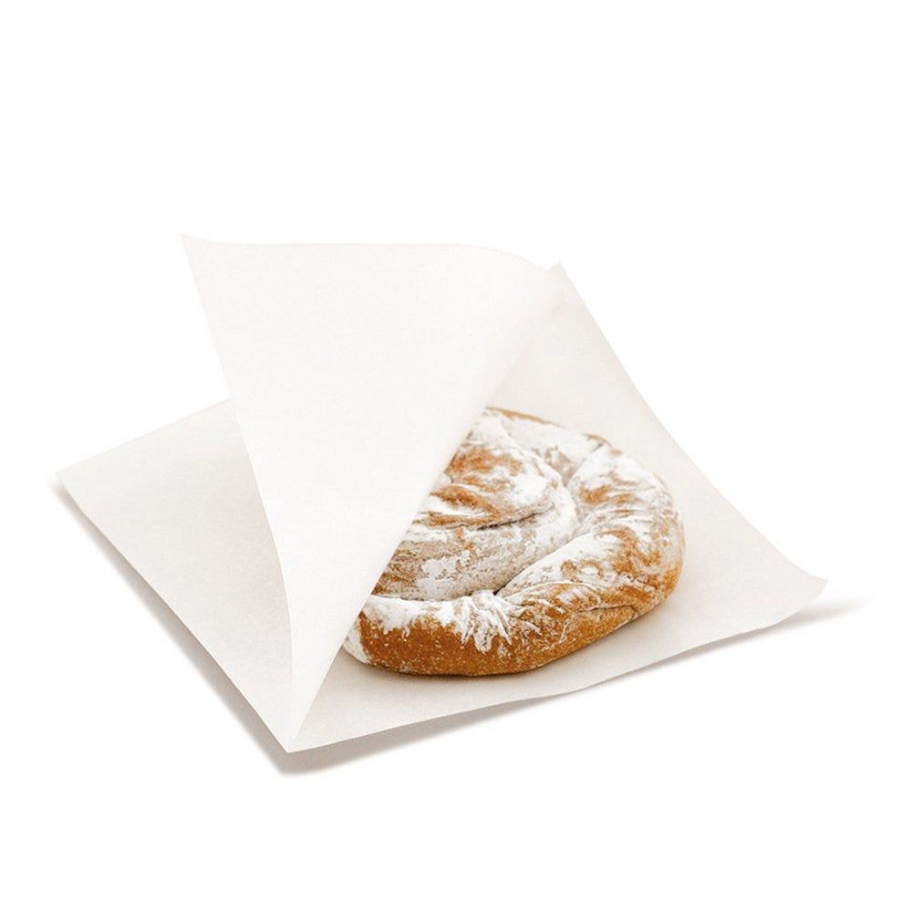 Sachet papier laminé blanc 2 côtés ouverts 12x12,2cm - par 100